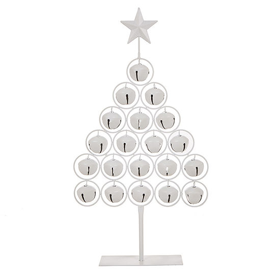 Glitzhome Iron Bell Christmas Tree Tabletop Tree