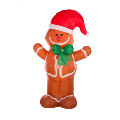 Glitzhome Lighted Gingerbread Man Outdoor Inflatable