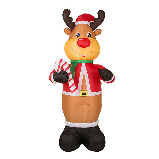 Glitzhome Lighted Reindeer Lighted Christmas Outdoor Inflatable