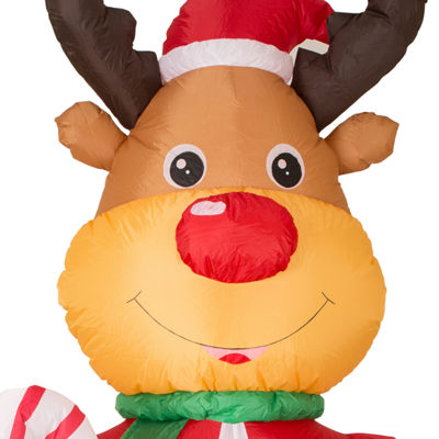 Glitzhome Lighted Reindeer Outdoor Inflatable