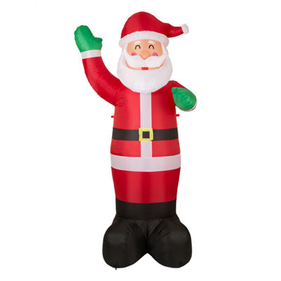 Glitzhome Lighted Santa Outdoor Inflatable