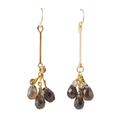 Artsmith By Barse Greater Than 6 CT. T.W. Brown Bronze Drop Earrings