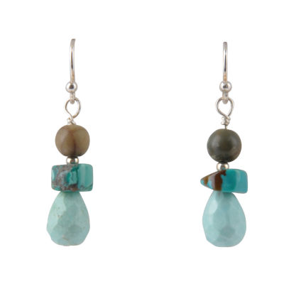 Artsmith By Barse Greater Than 6 CT. T.W. Blue Bronze Drop Earrings