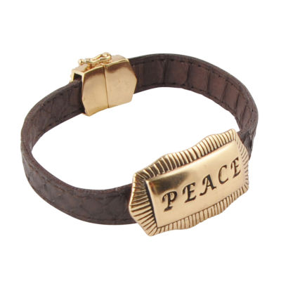 Artsmith By Barse Peace Womens Bronze Wrap Bracelet