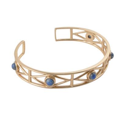 Artsmith By Barse Womens 1 1/2 CT. T.W. Blue Cuff Bracelet Bronze