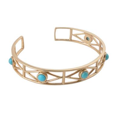 Artsmith By Barse Womens 1 1/2 CT. T.W. Blue Cuff Bracelet