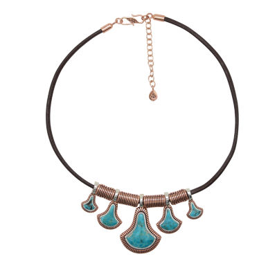 Artsmith By Barse Womens Greater Than 6 CT. T.W. Blue Pendant Necklace