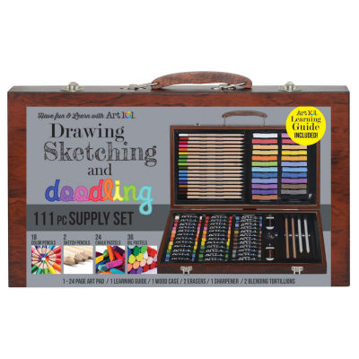 ART101 Wood Art Set Deluxe Art & Doodle Set-168 Piece
