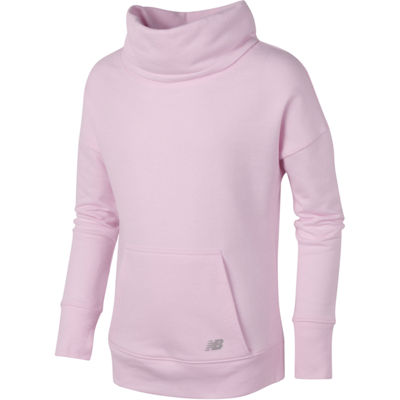 New Balance Girls Funnel Neck Pullover Big Kid
