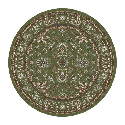 Arabella Traditional Border Woven Round Rugs