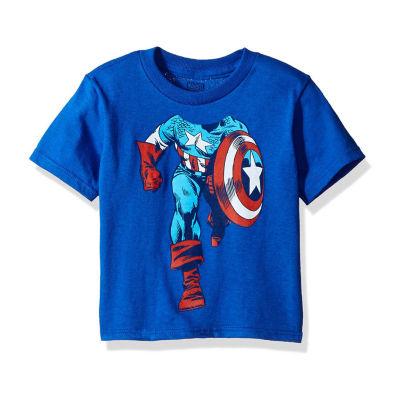 Toddler Boys Marvel Captain America Graphic T-Shirt