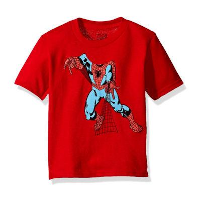 Toddler Boys Marvel Spiderman Head Graphic T-Shirt