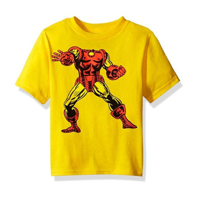 Toddler Boys Marvel Iron Man Head Graphic T-Shirt