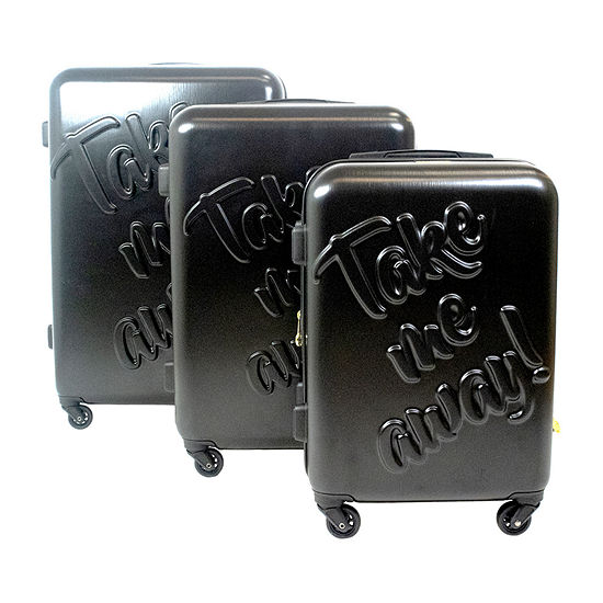 Macbeth Collection By Margaret Josephs Take Me Away 3 Pc Hardside Lightweight Luggage Set