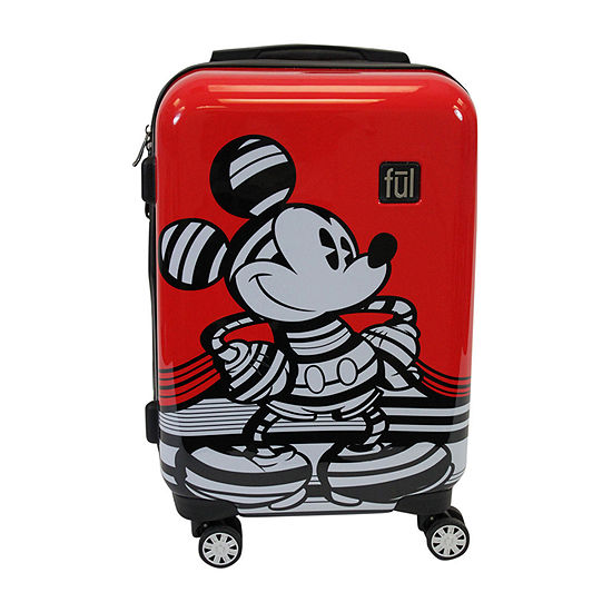 "Ful Disney Mickey Mouse Stripe Lightweight 21"" Luggage"