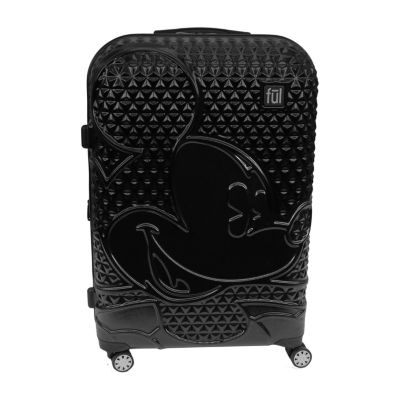 Ful Disney Mickey Mouse Textured Mickey Mouse 29 Inch Hardside Lightweight Luggage