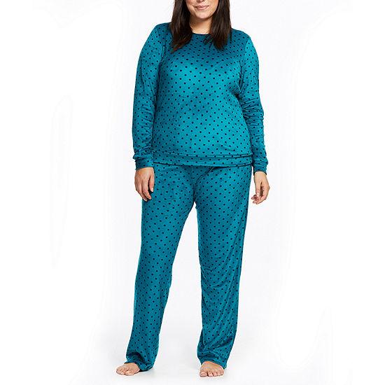 84808c801b732 Gloria Vanderbilt Womens-Plus Pant Pajama Set 2-pc. Long Sleeve - JCPenney