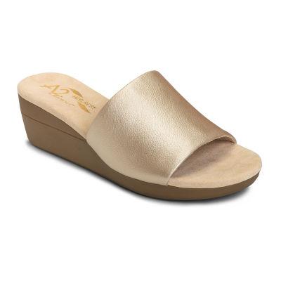 A2 by Aerosoles Womens Sunflower Slide Sandals