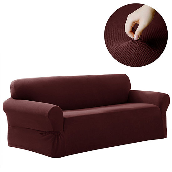 Maytex Smart Cover® Pixel Textured Mini Dot Stretch 1 Piece Sofa Furniture Cover Slipcover