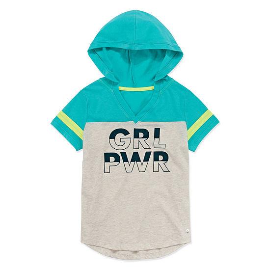 Xersion Short Sleeve Hooded Sweatshirt - Girls' 4-16 & Plus