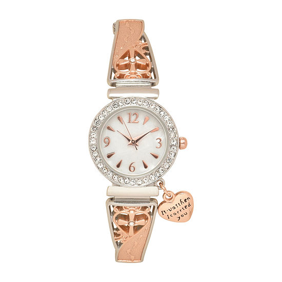Geneva Womens Two Tone Bracelet Watch-Wac2053jc