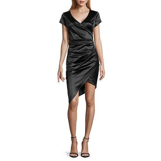 Byer California-Juniors Short Sleeve Bodycon Dress