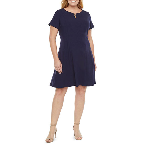 Alyx Short Sleeve Fit & Flare Dress - Plus