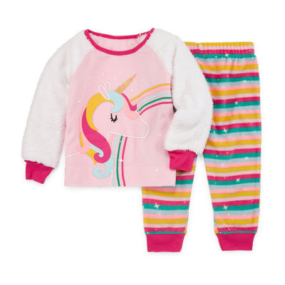 Okie Dokie Girls 2-pc. Pant Pajama Set Toddler