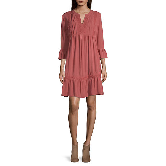 Artesia 3/4 Sleeve Midi Empire Waist Dress