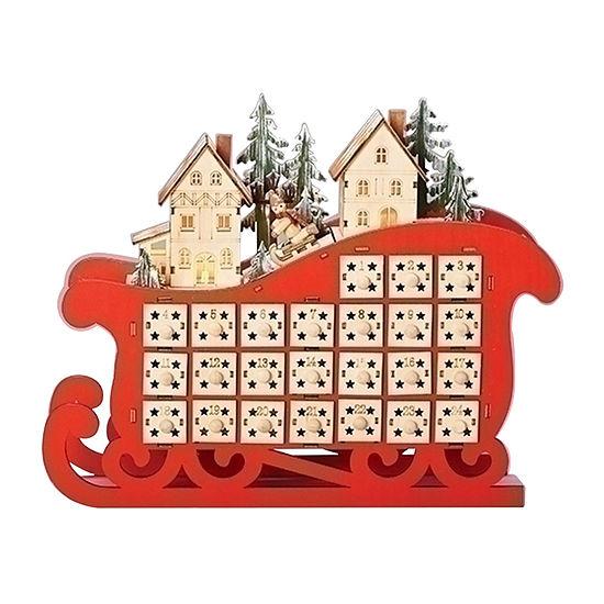 Roman Led Sleigh With Christmas Countdown Advent Calendar
