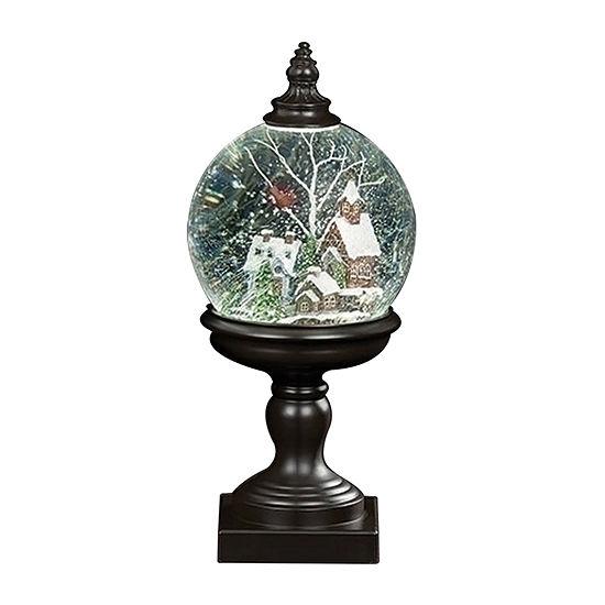 Roman Led Winter Village Scene Snow Globes