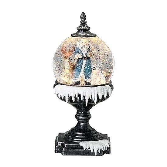 Roman Santa In Blue With Animals Snow Globes