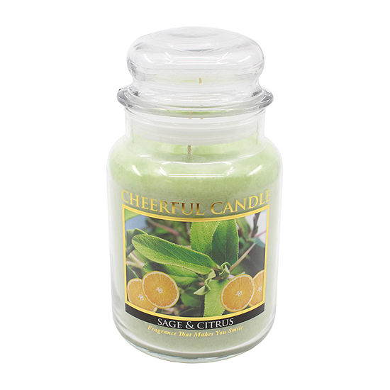 A Cheerful Giver 24oz Sage And Citrus Jar Candle