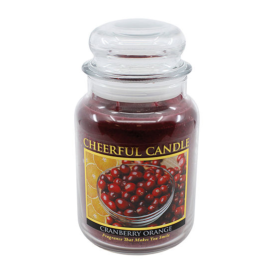 A Cheerful Giver 24oz Cranberry Orange Jar Candle