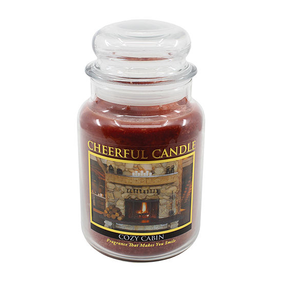 A Cheerful Giver 24oz Cozy Cabin Jar Candle