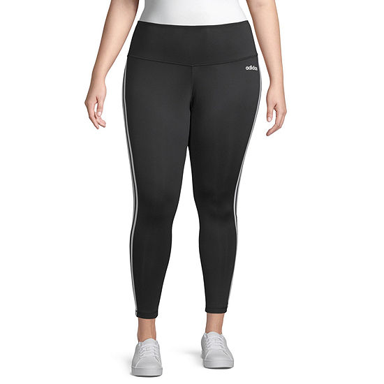 adidas 3 Stripe Tight Womens 7/8 Ankle Leggings Plus
