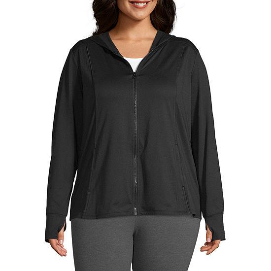 Xersion Womens Hooded Neck Long Sleeve Sweatshirt Plus