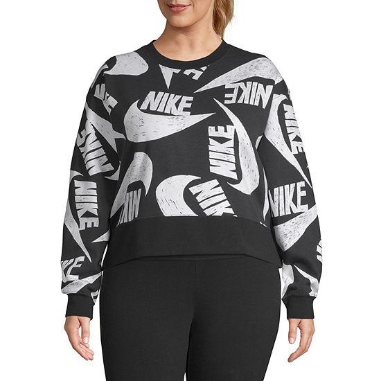 Nike Womens Crew Neck Long Sleeve Sweatshirt Plus