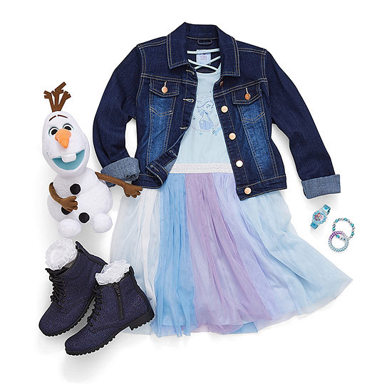 Fearless by Nature Girl's: Tutu Dress with Olaf Plush and Booties