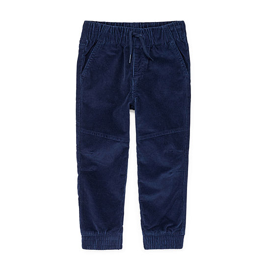Okie Dokie Corduroy Toddler Boys Mid Rise Cuffed Jogger Pant