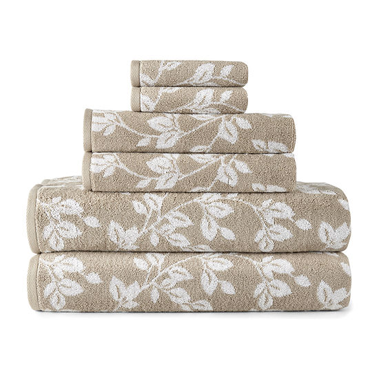 JCPenney Home Leaf Bath Towel