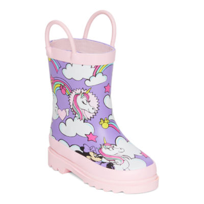 Disney Collection Little Kid/Big Kid Girls Minnie Mouse Rain Boots