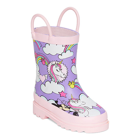Disney Collection Little Kid/Big Kid-Girls Minnie Mouse Rain Boots