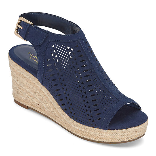Liz Claiborne Womens Hanalei Wedge Sandals