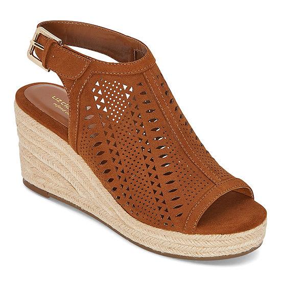 Liz Claiborne Womens Hanalei Wedge Sandals