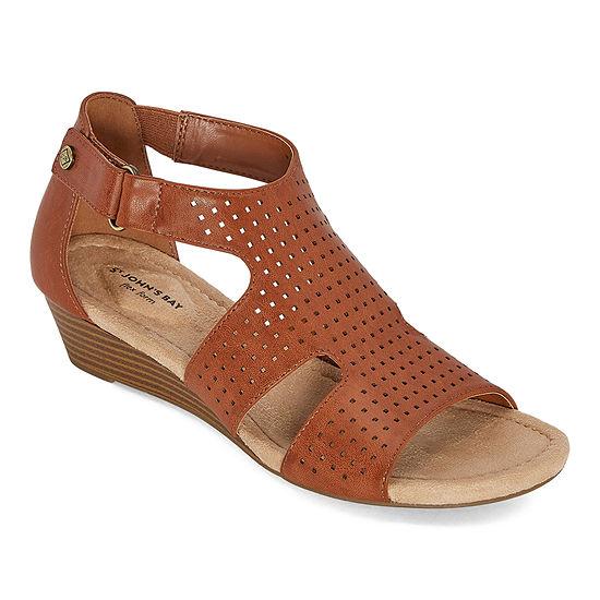 St. John's Bay Womens Newcastle Wedge Sandals