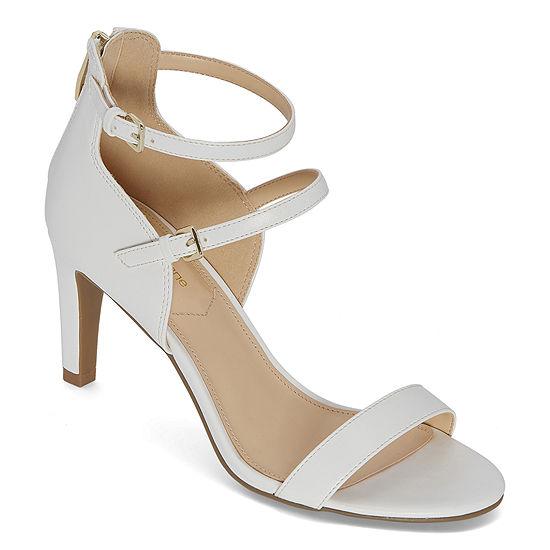 Liz Claiborne Womens Gracie Wide Width Heeled Sandals