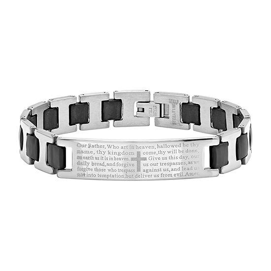 Stainless Steel Semisolid Link Link Bracelet