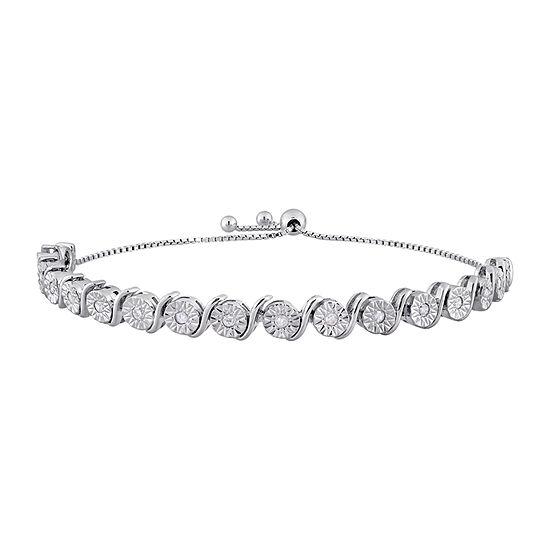 1/2 CT. T.W. Genuine White Diamond Sterling Silver 8 Inch Tennis Bracelet