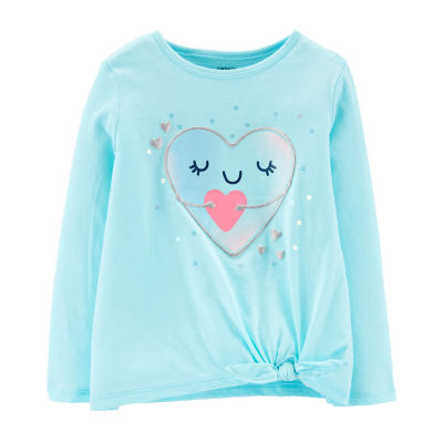 Carter's-Toddler Girls Crew Neck Long Sleeve Graphic T-Shirt